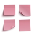Set of red sticky notes vector image vector image