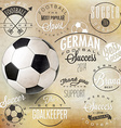 Football design background vector image