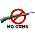 Sign with no guns allowed vector image