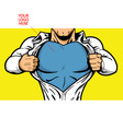 Superhero Chest for Your Logo vector image