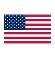 National political official US flag vector image
