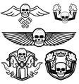 biker logos vector image