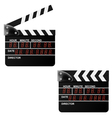 Digital Movie clapper board on a white background vector image