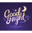 wish good night on dark purple sky backgr vector image
