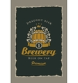 beer label to the brewery vector image vector image