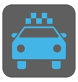 Taxi Automobile Rounded Square Icon vector image