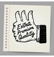 Scribble thumb up vector image vector image