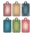 Set of ornamental winter tags vector image vector image