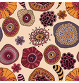abstract seamless floral composition vector image