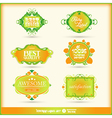 Set of calligraphic and floral design lements vector image