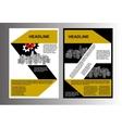 brochure template cityscape vector image