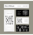 Business cards design art trees vector image vector image