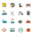 Auto Mechanic Flat Icons Set vector image