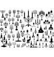 candlesticks vector image