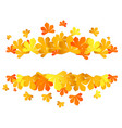 colorful autumn leaves yellow autumn sale frame vector image