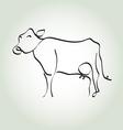 cow simple icon in black lines vector image