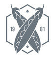 eco peas 1981 logo simple style vector image