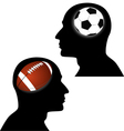 football vs soccer vector image