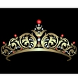 Gold diadem with rubies vector image