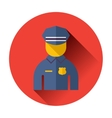 police officer icon vector image