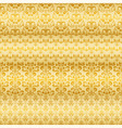 seamless floral golden borders vector image