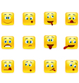 Set crazy emoticons vector image