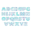 set of ornate capital letters with abstract vector image