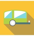 Trailer icon flat style vector image