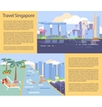 Singapore flyer big city vector image