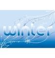 word winter vector image