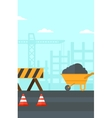 Background of construction site vector image