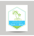Wedding Invitation Card - Save the Date - Tropical vector image