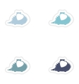 Set of paper stickers on white background hedgehog vector image
