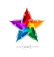 Abstract colorful star on white background vector image