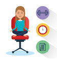 business people meditation lifestyle with business vector image