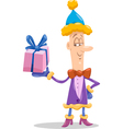 christmas elf cartoon vector image