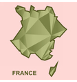 Digital france map with abstract vector image