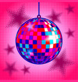 disco ball comic book style vector image