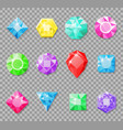 gems isolated on a transparent background vector image