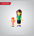 isolated gril flat icon mother element can vector image
