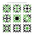 Set of emblems design element-01 vector image vector image