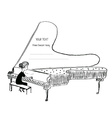 Girl playing piano sketch - background for a vector image