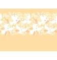 Wedding doves among flowers horizontal seamless vector image