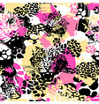 leopard exotic cat seamless pattern vector image