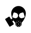 black icon on white background military gas mask vector image