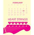 2014 Valentine Calendar vector image