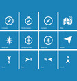 Compass icons on blue background vector image vector image