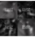 Set of dark grey blurred backgrounds vector image