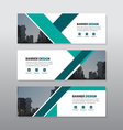 Green triangle abstract corporate business banner vector image