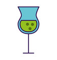 alcohol cup cartoon vector image
